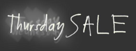 Image of a blackboard with 'Thursday' Sale written over several previous days' sales