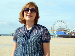 Lucy Whittington at Santa Monica Beach