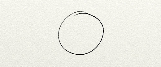 Picture of a simple line drawing or a circle