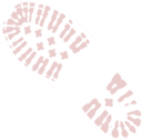 image of red boot print