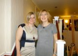 Lucy with Jenni Ray at Hampshire Winning Women 22 March 2012