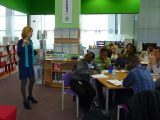 Lucy speaking at Portsmouth Centre for Enterprise PIPEline