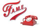F.A.M.E. tele-training class logo and telephone