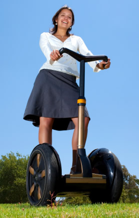 Woman on a segway