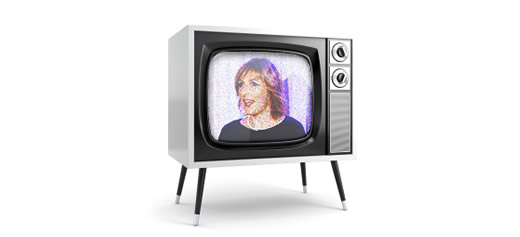 Lucy on a retro TV