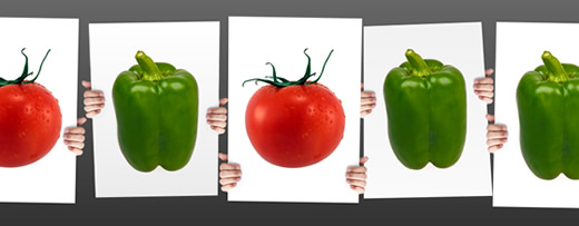 Tomato and Pepper voting cards