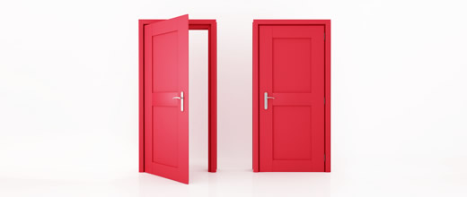 Two red doors - one open and one closed  sc 1 st  Brilliant Business Things & Do you slam the door shut as soon as you open it? - Brilliant ...