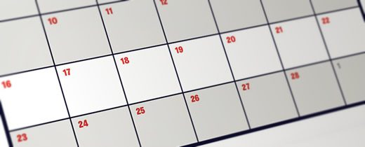Calendar with week showing