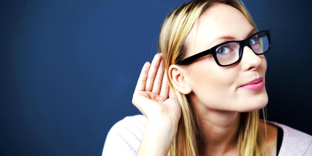 Woman listening carefully