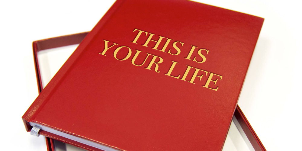 Red This is your Life book
